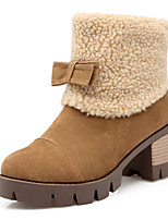 Women's Shoes Snow Boots / Fashion Boots / Round Toe Boots Office & Career / Dress / Casual Chunky Heel Bowknot