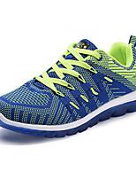 Синий / Зеленый / Оранжевый-Мужской-На каждый день-Ткань-На плоской подошве-Удобная обувь-Кеды