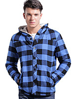 Lesmart Men's Stand Long Sleeve Jackets Blue / Red / Green-MSL6223