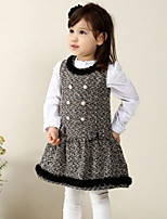 Girl's Casual/Daily Patchwork Dress,Rayon Winter / Spring / Fall Black