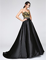 TS Couture® Formal Evening Dress A-line Sweetheart Floor-length Satin with Sequins
