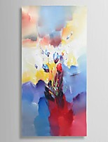Ready to hang Stretched Hand-Painted Knife Flower Oil Painting Canvas 40