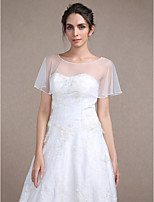 Women's Wrap Capelets Sleeveless Tulle Ivory Wedding / Party/Evening Bateau Rhinestone Pullover