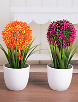 1PC/Set Home Decoration New Ceramic Vase Artificial Plants Potted Simulation Flowers Decorated Flower