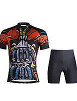 Paladin Sport Men  Cycling Jersey + Shorts Suit DT699 Ugly Skeletons