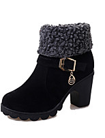 Women's Boots Fall / Winter Riding Boots / Fashion Boots Leather Outdoor / Casual Chunky Heel Buckle / Others