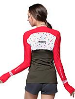 NUCKILY Bicicletta/Ciclismo Top Per donna Maniche lunghe Traspirante / Resistente ai raggi UV / Crema solare Tessuto sinteticoClassico /