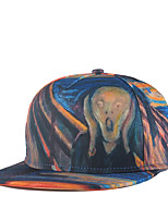 Fashion Women Men Hip Hop Frightened Skull Oil Painting Print Adjustable Patchwork 3D Baseball Cap