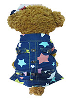 Holdhoney  Dog Clothes  Blue Spring/Fall  Fashion Star Denim Jacket (#LT15050275)