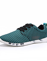 Men's Sneakers Spring / Fall Comfort Tulle Athletic / Casual Flat Heel Lace-up Gray / Dark Green / Light Green Sneaker