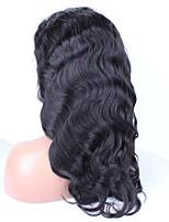 Бейонсе 6a малайзийский волны тела полные парики шнурка человеческих волос для черных женщин 20