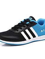 Damen-Sneaker-Lässig / Sportlich-Tüll-Flacher Absatz-Komfort / Rundeschuh-Schwarz / Blau / Fuchsie
