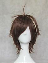 cosplay corona culpable pelucas 35cm peluca larga recta oscuro pelo sintético peluca castaña