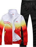 Running Clothing Sets Men's Long Sleeve Breathable Polyester Fitness Leisure Sports Badminton Cycling Running Sports
