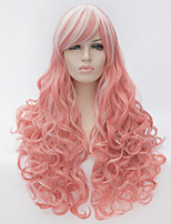 Cosplay wig wind Lolita Lolita multi color gradient wig daily wig  Synthetic Wigs