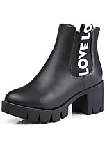 Women's Boots Winter Heels / Platform / Riding Boots / Fashion Boots / Bootie / Comfort / Round ToePatent Leather /