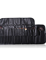 24 Makeup Brushes Set Horse Professional / Full Coverage / Horse Hair / Portable Wood Face / Eye / Lip With Cosmetic Bag