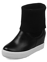 Women's Boots Fashion Boots / Round Toe Leatherette Party & Evening / Dress / Casual Platform Others / Split Joint