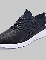 Men's Sneakers Spring / Fall Round Toe PU Athletic Flat Heel Others / Lace-up Black / Blue Sneaker