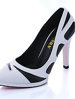 Women's Heels Fall Heels PU Office & Career Stiletto Heel Others Black / White Others