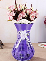 Woven Vase Home Decorations Crafts Hand-woven Flower Arrangement Device(Random Colors)