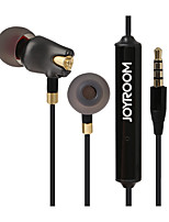 Joyroom E105 In Ear Earbuds Earphone 3.5MM High Fidelity Stereo Ceramic Noise Cancelling With Mic