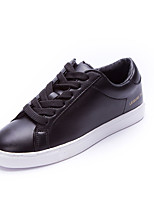 Unisex Sneakers Spring / Fall Comfort Tulle Casual Flat Heel  Black / White Walking