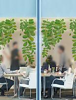 Window Film Window Decals Style Small Fresh Green Leaves Matte PVC Window Film - (60 x 58)cm