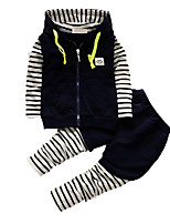 Boy's Casual/Daily Print Clothing Set,Cotton Fall Blue / Green / Red / Gray