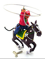 Novelty Toy  Pretend Play  Puzzle Toy  Wind-up Toy Novelty Toy  Warrior  Horse Metal Black For Kids