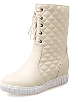 Women's Shoes Fall / Winter Fashion Boots / Round Toe Boots Office & Career / Dress / Casual Platform Zipper / Lace-up