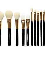 12 Makeup Brushes Set Goat Hair Professional / Full Coverage / Portable Wood Face / Eye / Lip