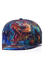 Fashion Women Men Hip Hop 3D Dragon Head Printed Adjustable Baseball Cap
