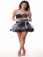 Costumes Zombie / Vampires Halloween Gray & Black Solid / Lace Terylene Dress / Sleeves / Headwear