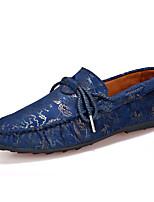 Heren Loafers & Slip-Ons Lente / Zomer Comfortabel / Mocassin Suède Informeel Platte hak Instappers Blauw / Bruin / Rood Wandelen