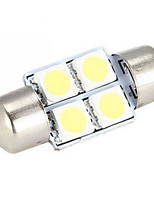 10pcs 31mm 4 SMD 5050 White Micro Universal Vehicle Auto Truck SUV Car Interior Festoon Dome LED Light Bulbs(DC12V)