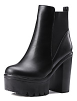 Women's Boots Spring / Fall / Winter Heels / Platform / Fashion Boots / Round Toe PU Dress / Casual Chunky Heel Gore