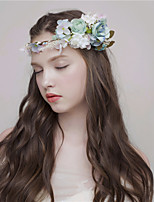 MISS DIVA Women's Tulle Headpiece Headbands 1 Piece Blue Flower 47