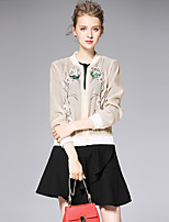 AFOLD® Women's Stand Long Sleeve Sweater & Cardigan Beige-6021