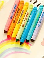 Marcadores y Resaltadores Subrayadores,Plástico Colores Aleatorios