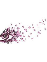 Wall Stickers Wall Decals Style Pink Charming Eye Butterfly PVC Wall Stickers