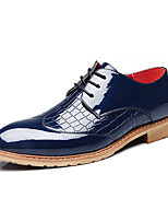 Men's Oxfords Comfort PU Casual Black Blue Red White