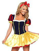 Costumes Déguisements de princesse Halloween / Noël / Carnaval Rouge / Jaune Vintage Térylène Robe / Coiffure