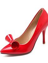 Черный / Розовый / Красный-Женский-Для офиса / На каждый день-Лакированная кожа-На шпильке-На каблуках / С острым носком-Обувь на каблуках