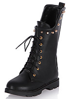 Women's Shoes Flat Heel Round Toe Rivets Lace Up Boot More Color Available