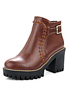 Women's Boots Winter Heels / Platform / Riding Boots / Fashion Boots / Bootie / Comfort  Round ToePatent Leather /