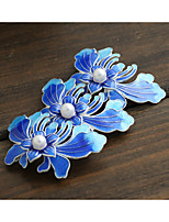 DIY Jewelry Blue Flower Style Copper Charm Pendant