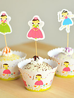 Birthday Party Tableware-24Piece/Set Cake Accessories Tag Card Paper Rustic Theme Other Non-personalised Multi Color