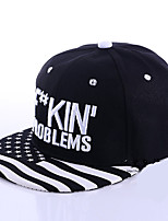 Stripe Letter Embroidery Korean Wave hip-hop Hat