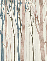 JAMMORY 3D Wallpaper For Home Contemporary Wall Covering Canvas Material Simple Tree3XL(14'7''*9'2'')